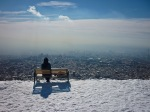 Overlooking Tehran from Mt Tochal